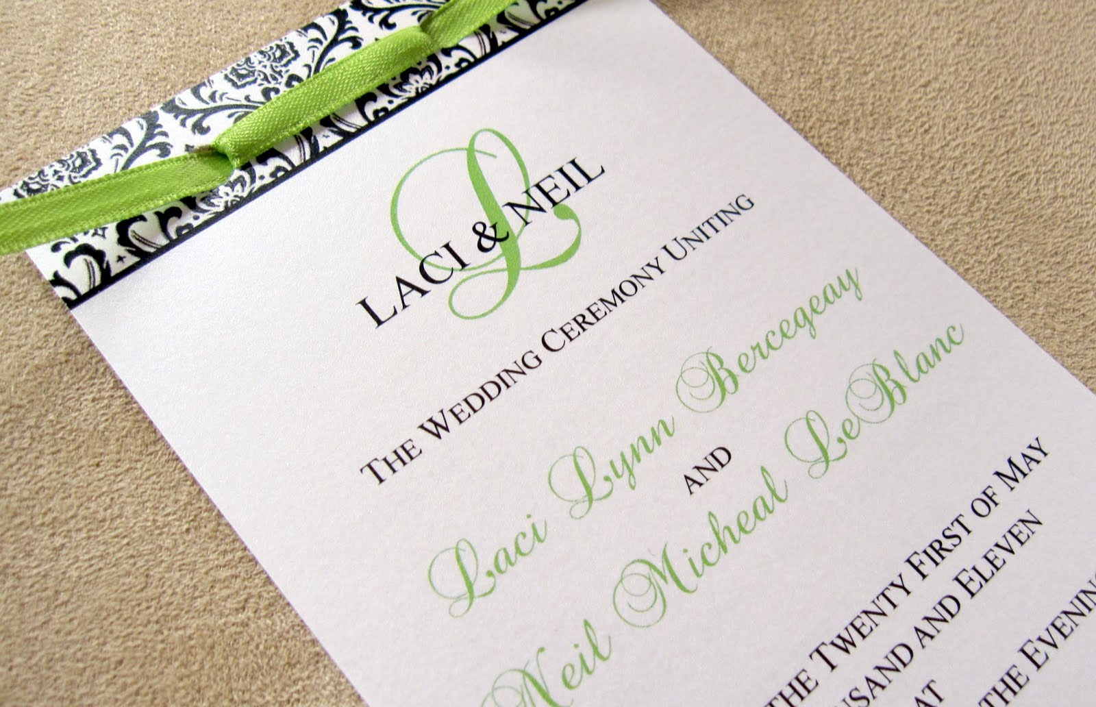 scrapping innovations laci and neil layered wedding programs