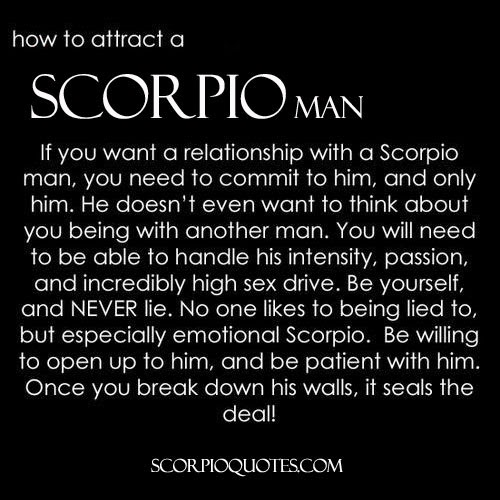Scorpio man wants in a woman