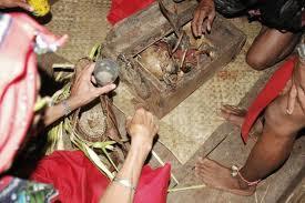 Ritual Memandikan Tengkorak di Kalimantan