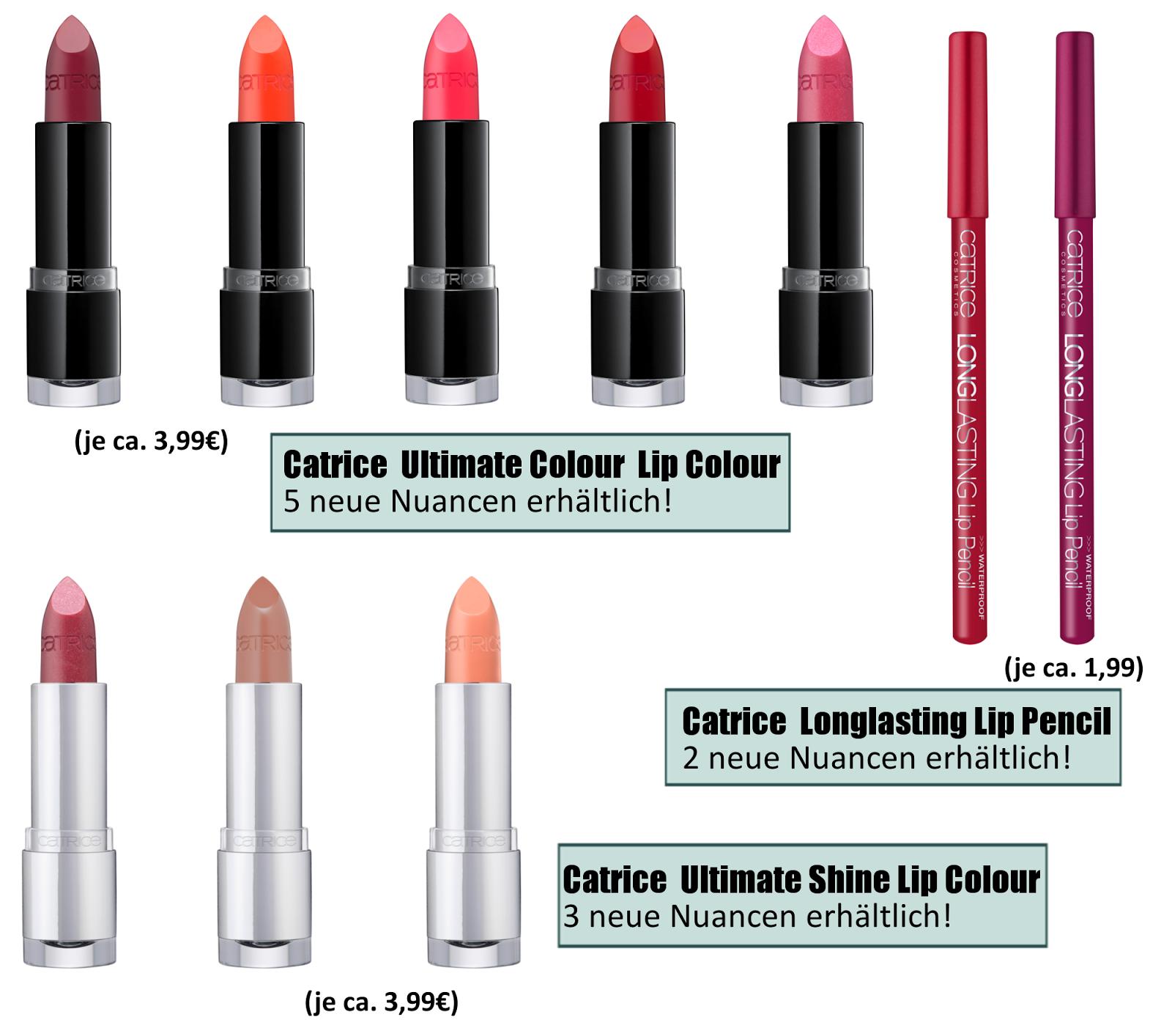 Catrice Sortimentsumstellung Frühling/ Sommer 2014 - Neuheiten Lippenprodukte