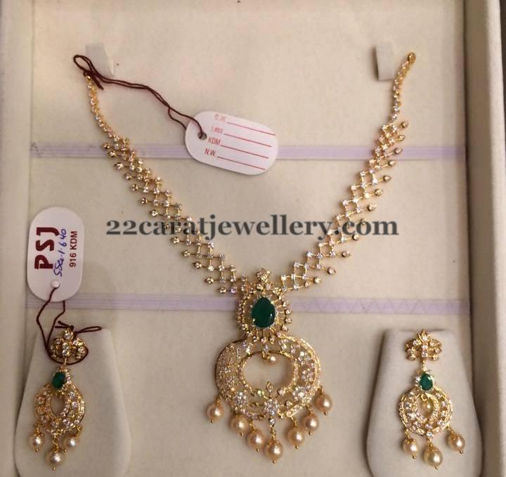 Light Weight CZ Set by PSJ Jewellery Designs