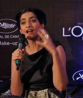 Sonam Kapoor Launch L'Oreal Paris Sunset Cannes Collection Sonam+Kapoor+Launch+L%27Oreal+Paris+Sunset+Collection+(19)