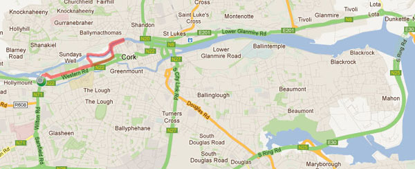 Cork Running Routes Mardyke Mile Km Run - How to map a run