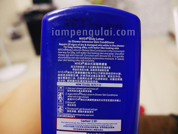 nivea in-shower intensive skin conditioner review