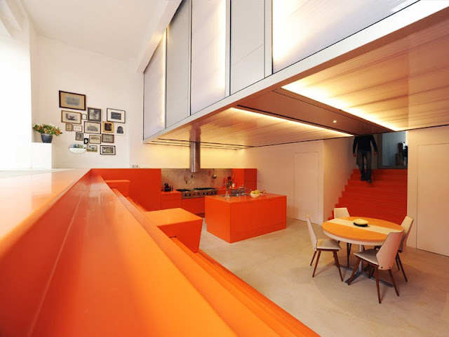 Orange interior design in Rotterdam
