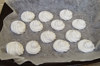 Egg free, vegan meringues made from chickpea brine