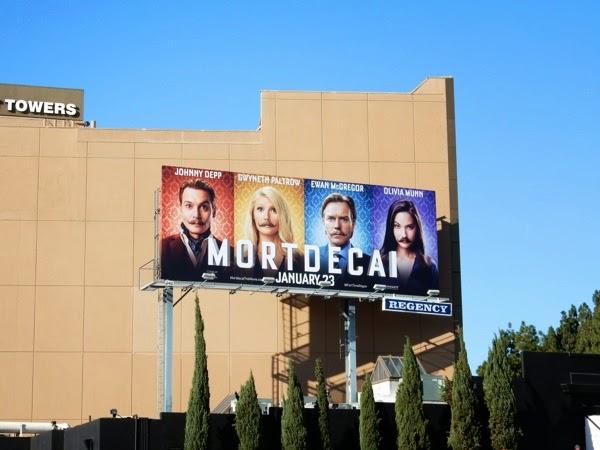 Mortdecai film billboard