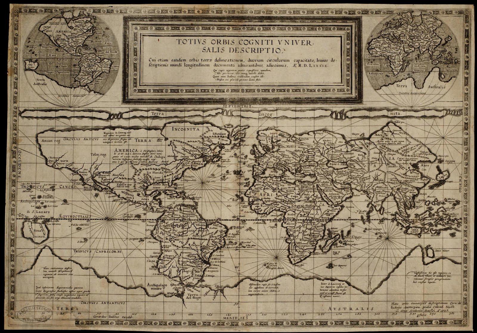 Mapas históricos del mundo: Mapamundi - Siglo XVI