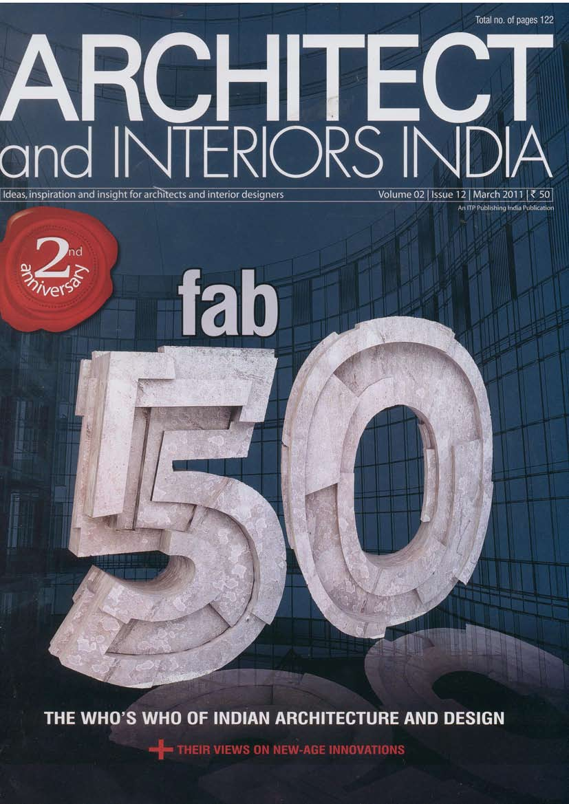 The world is not enough india 39 s top most 50 architects for Top 50 architects in the world