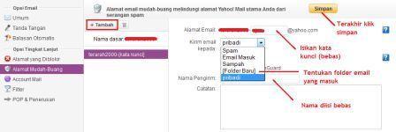 MEMBUAT EMAIL SAMARAN/MUDAH BUANG DI YAHOO MAIL