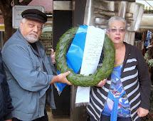 הנחת זר לזכר קורבנות השואה