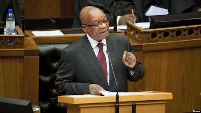 South African President Zuma blames the west for Refugees surge.