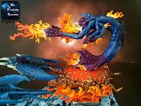 Demony Chaosu Płonący Rydwan Tzeentcha WiP 8 malowanie płomieni