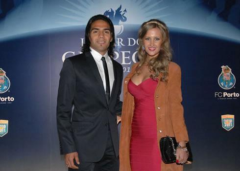 Football: Radamel Falcao Garcia With His Girlfriend Lorelei Taron 2013