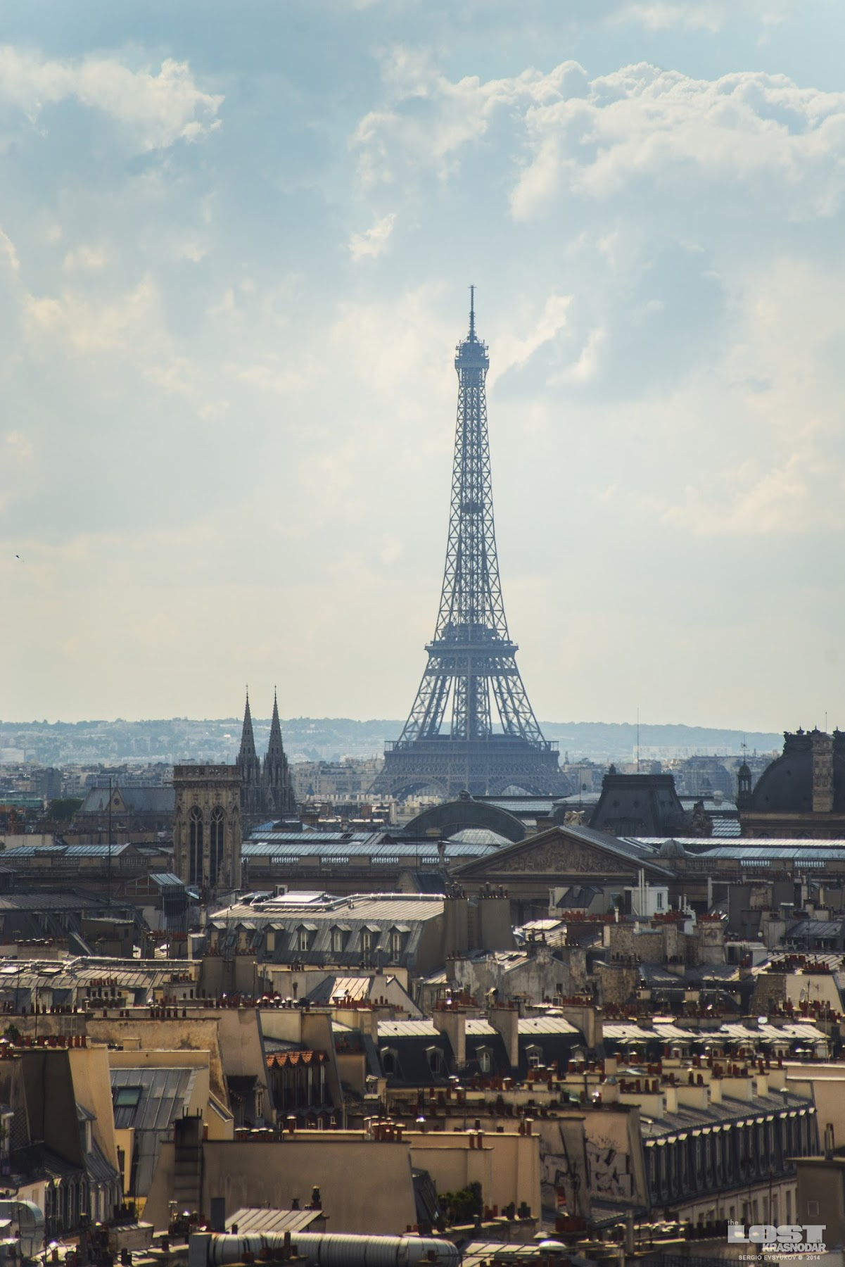 Париж с крыши