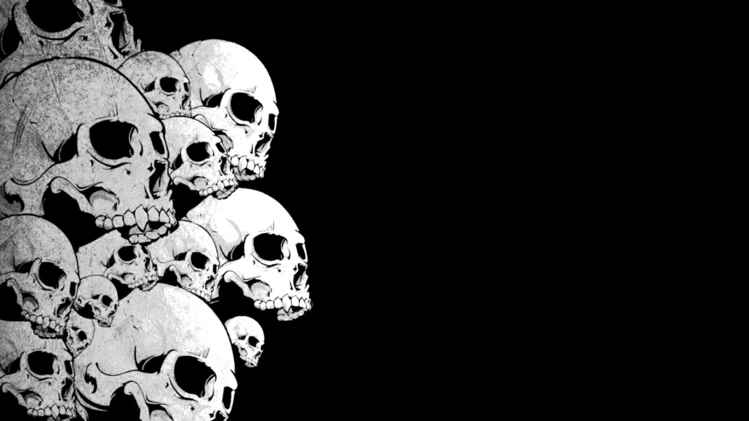Wallpaper Hd 1080p Black And White Skull Animated Wallpapers Quality