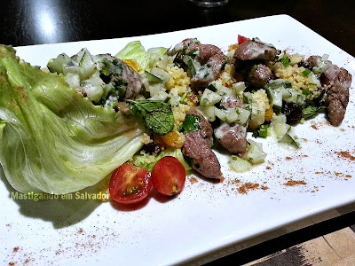 Yellow Easy Foods: Salada de Cuscuz Marroquino com Cordeiro