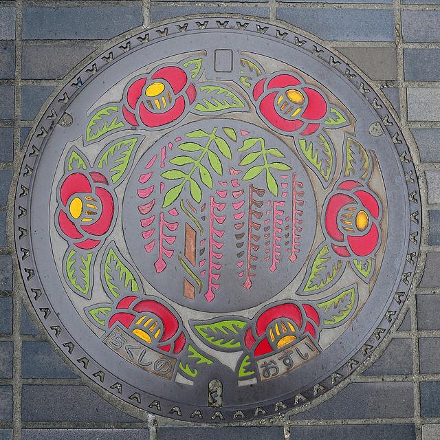 Arte nipón en el mobiliario urbano Manhole+japan+cover+1