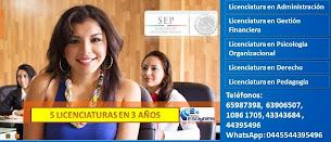 Contacto FB: Cesuyden D.F. Centro Licenciaturas