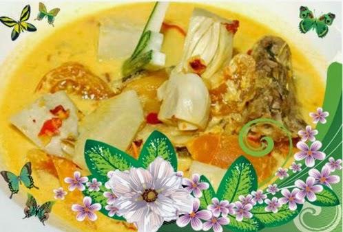 Tumis-tumis Ramadan Chef Sabri, - Masak Lemak Ikan Masin dengan Nangka Muda, Sotong Goreng Tempe dan Kerabu Taugeh dengan Kacang Botol