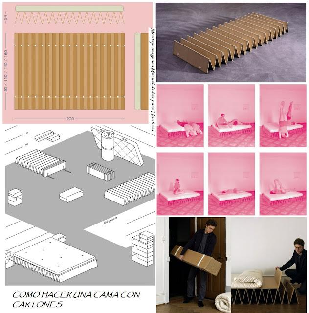 Haz una cama de carton de una sola pieza manualidades para hombres - Como construir una cama ...