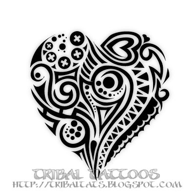 Tatto Tribal on Tamuramaro Mitsukuri  7 Unique Designs Of Tribal Heart Tattoos Gallery
