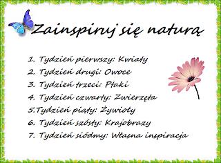 Zainspiruj się naturą: Tydzień 1