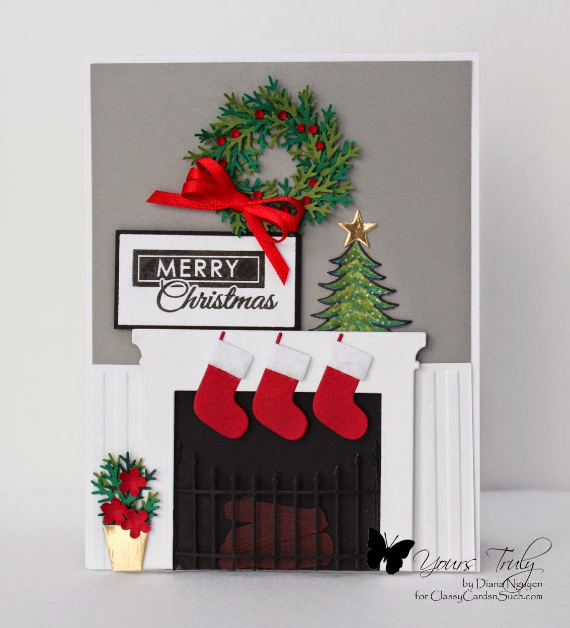 Diana Nguyen, Memory Box, fireplace, stockings, Martha Stewart, Christmas, Verve