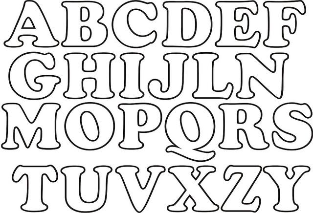 Riscos de Letras para serem recortadas em E.V.A. para formar as