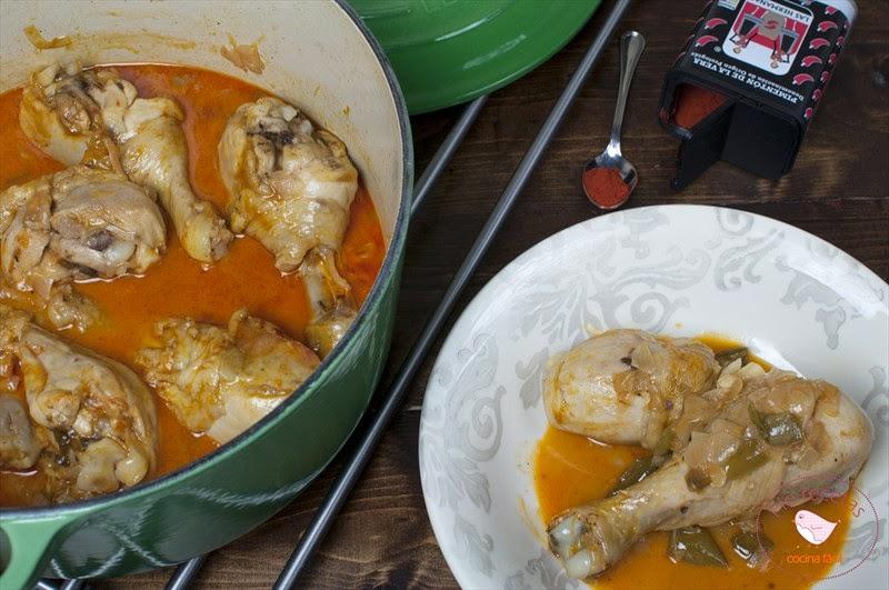 Pollo al pimentón en cocotte
