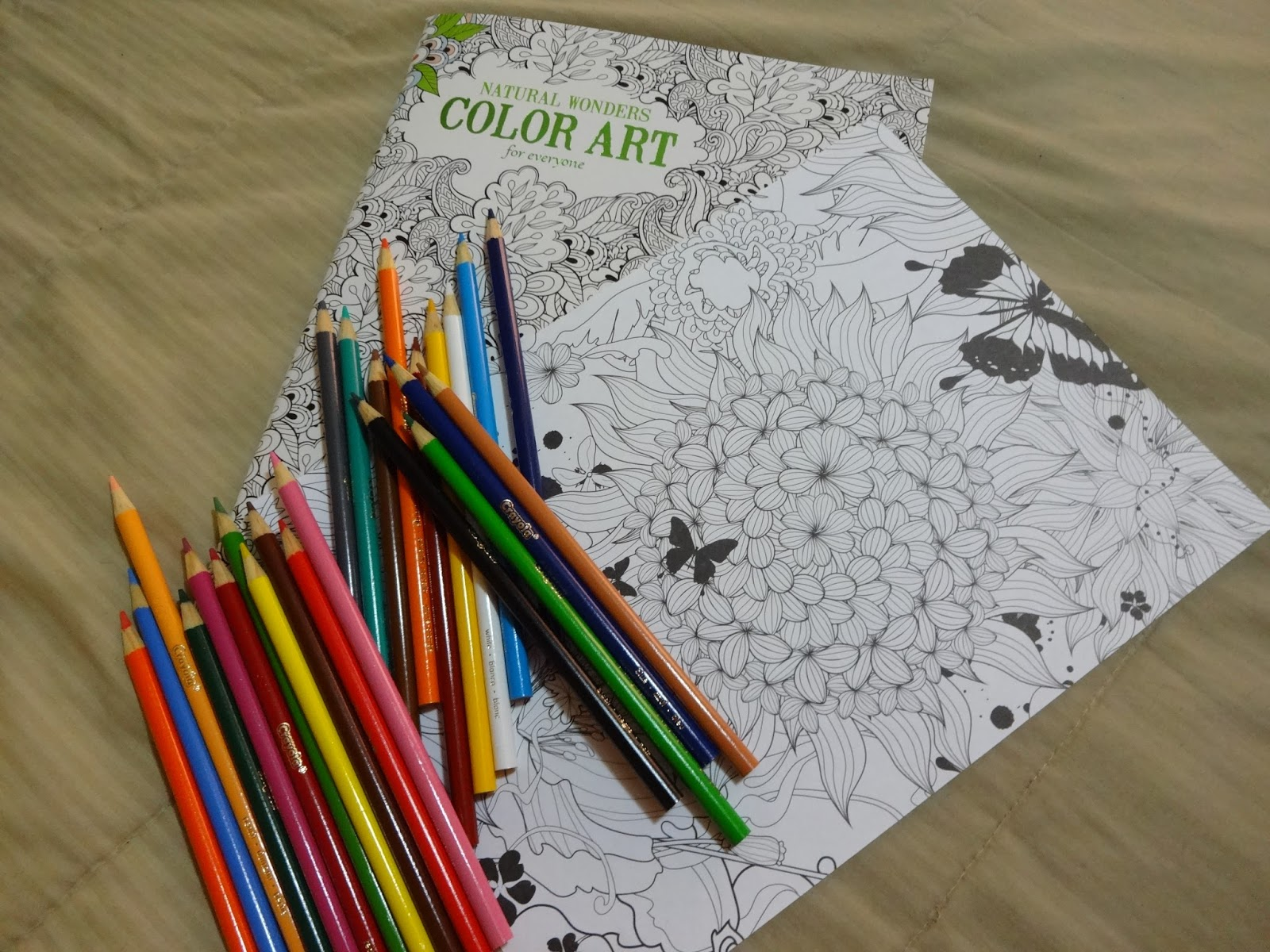 Natural Colored Fillings Coloring Books Filled With
