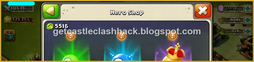 Castle Clash Hack - Cheats Castle Clash for Gems, Shards and Honor