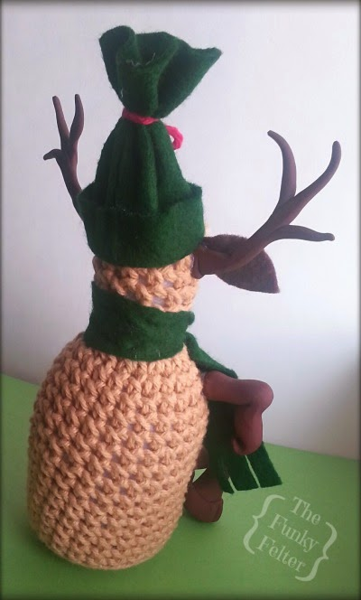 The Funky Felter Free Crochet Christmas Reindeer Pattern