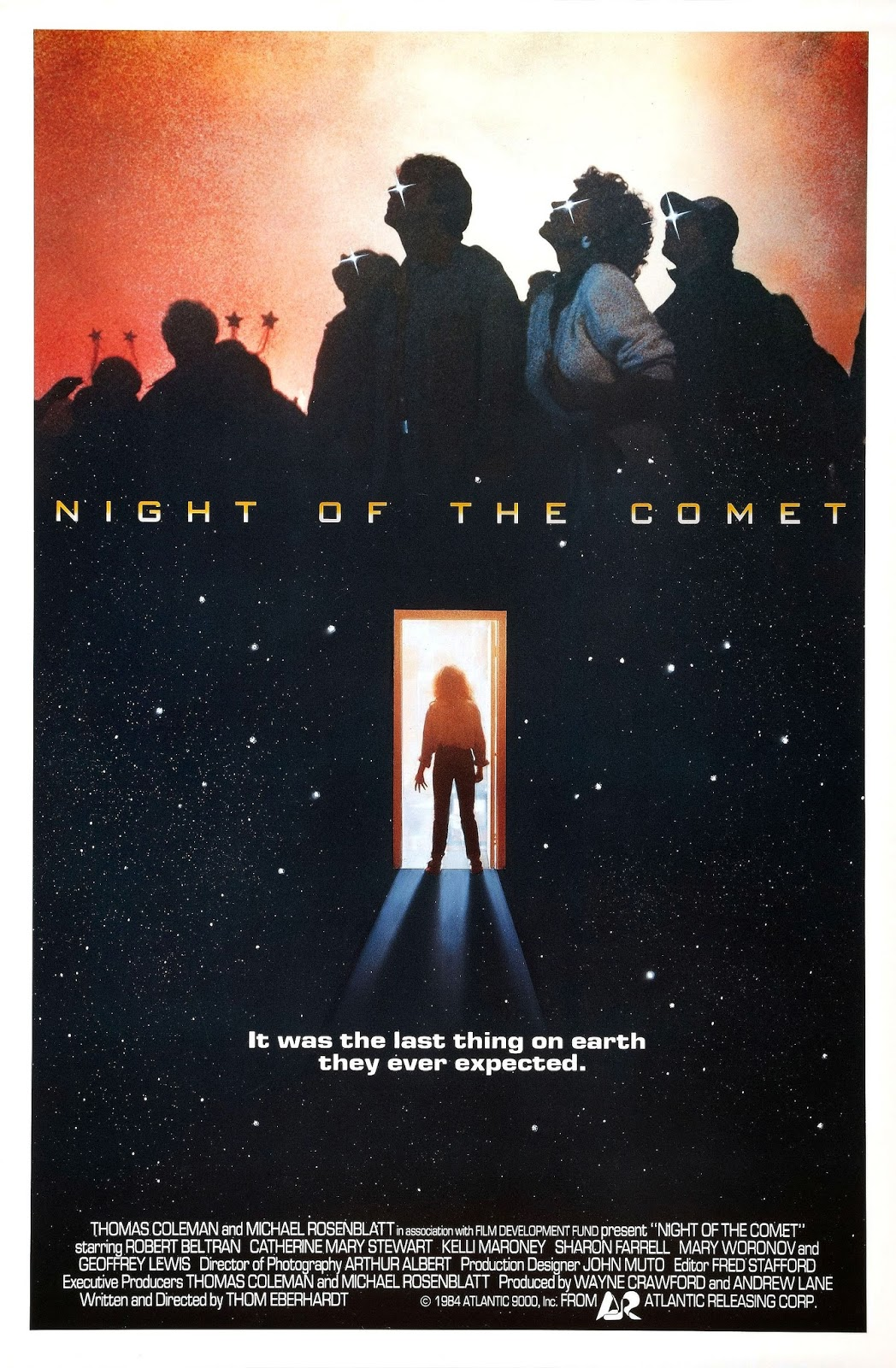 Night of the Comet Poster Catherine Mary Stewart Prince Charles Cinema 16 Oct.