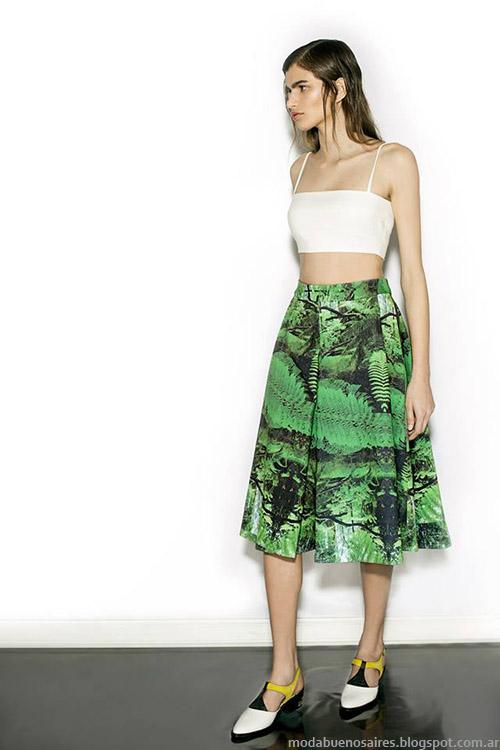 Nous primavera verano 2015, faldas de moda verano 2015.