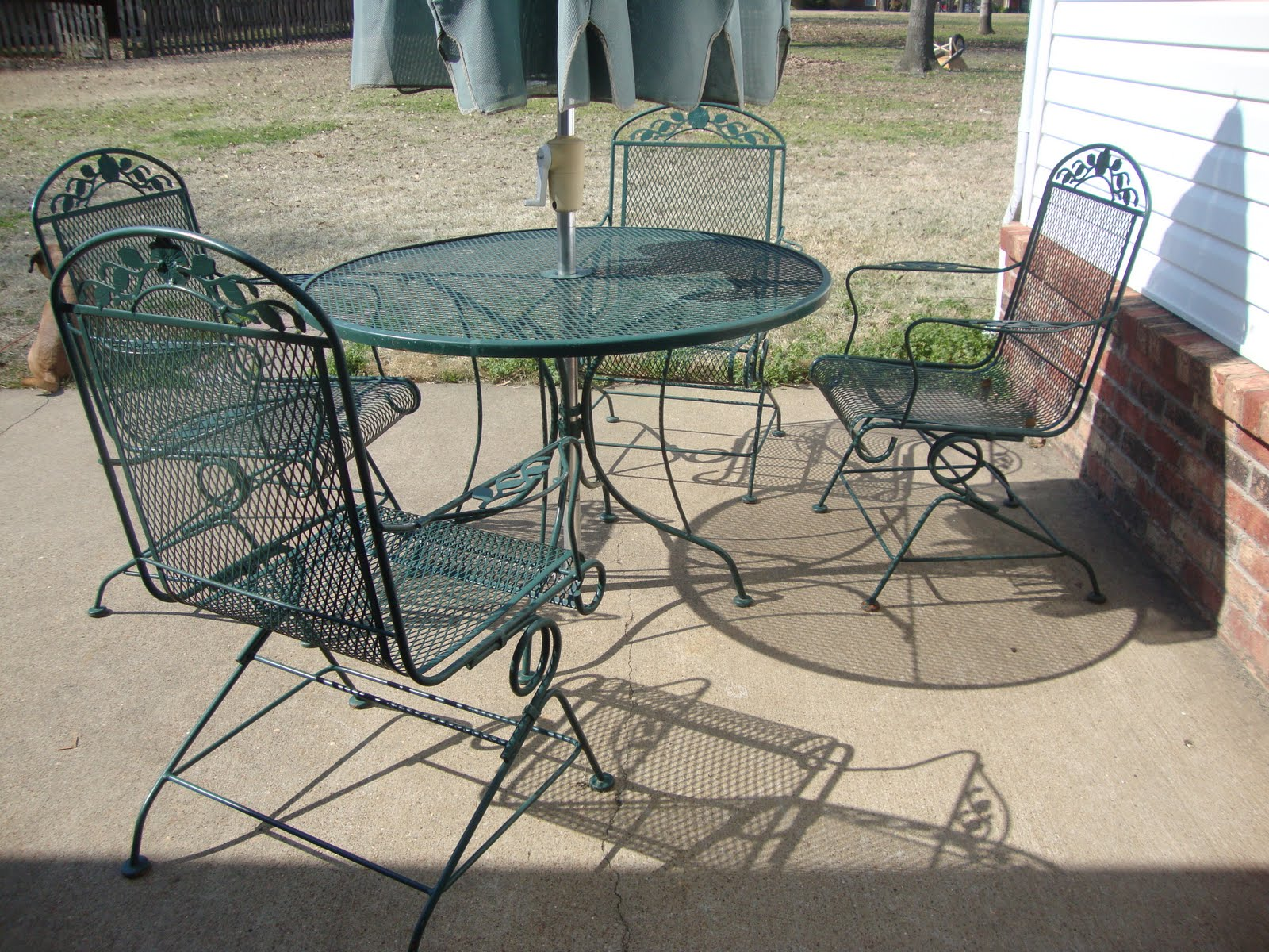 amazing grays updated patio set