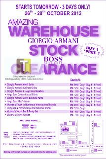 Armani Hugo Boss Warehouse Stock Clearance 2012