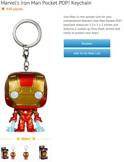 Iron Man Pocket Pop keychain available at Disney Movie Rewards