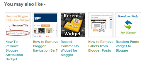 Related Posts Widget