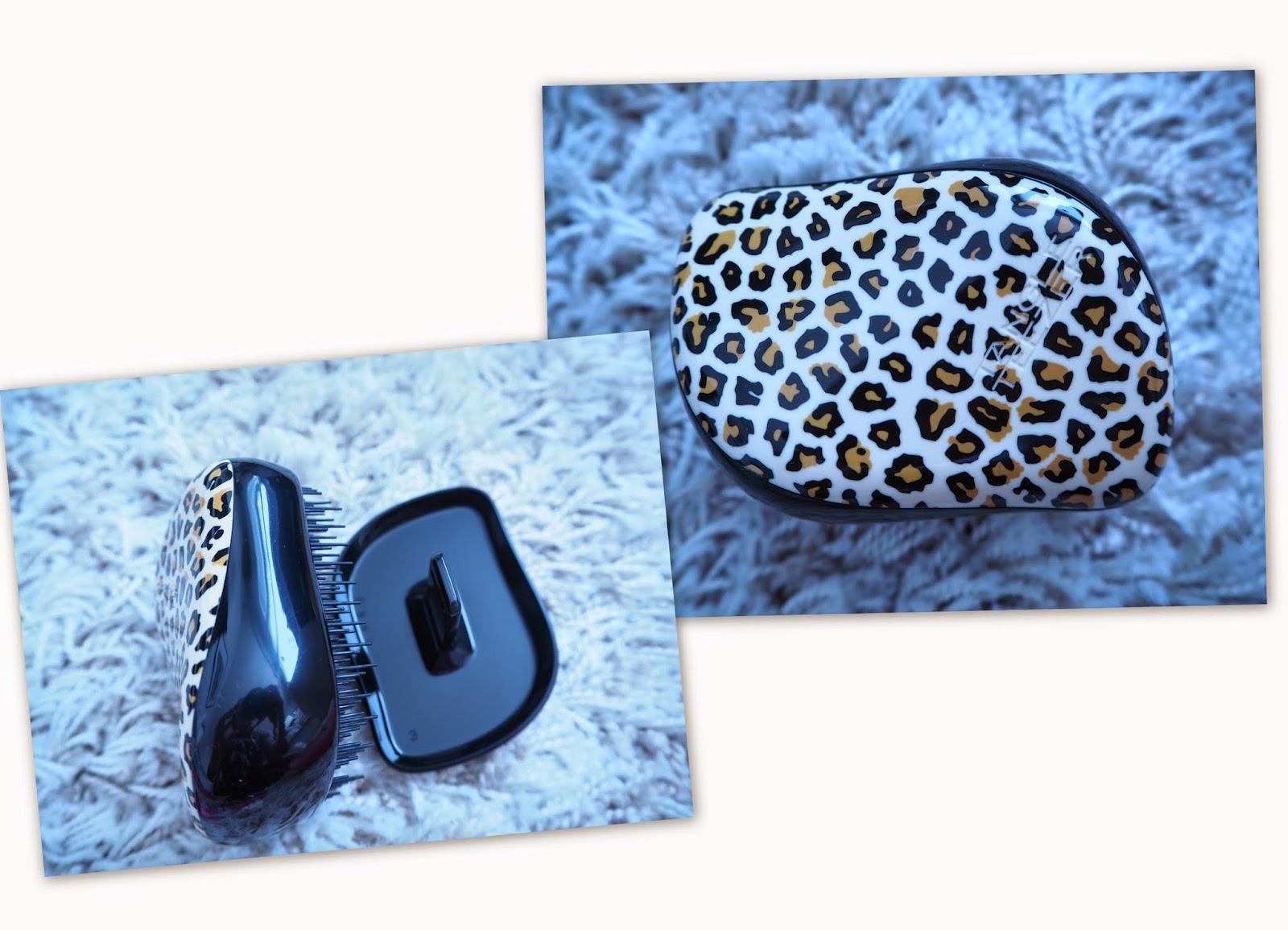 tangle teezer, takku harja, hiusharja, hair, matkaharja, compact styler, leopard,