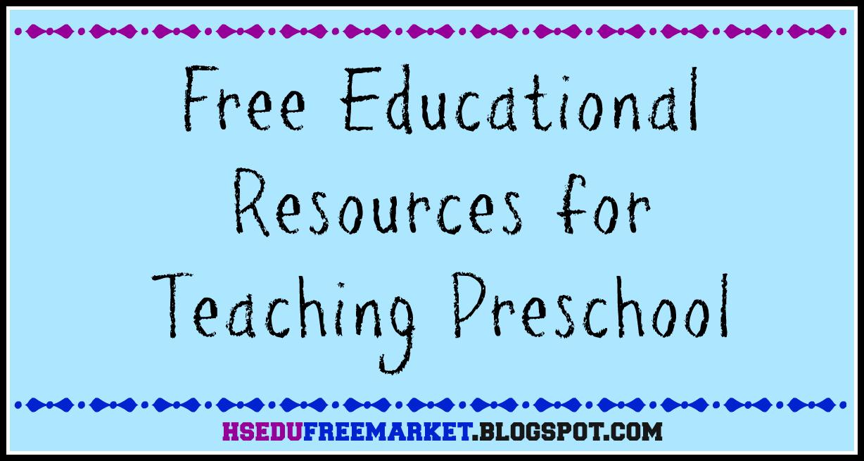 Free Educational Resources for Teaching Preschool ~ HSEduFreeMarket