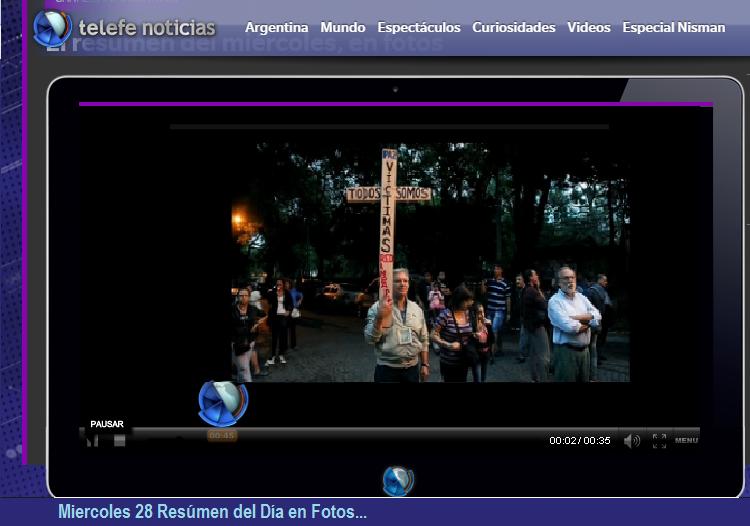 Juan Anibal Gomez - TELEFÉ Noticias nos muestra llegando al Velorio del Fiscal Nisman