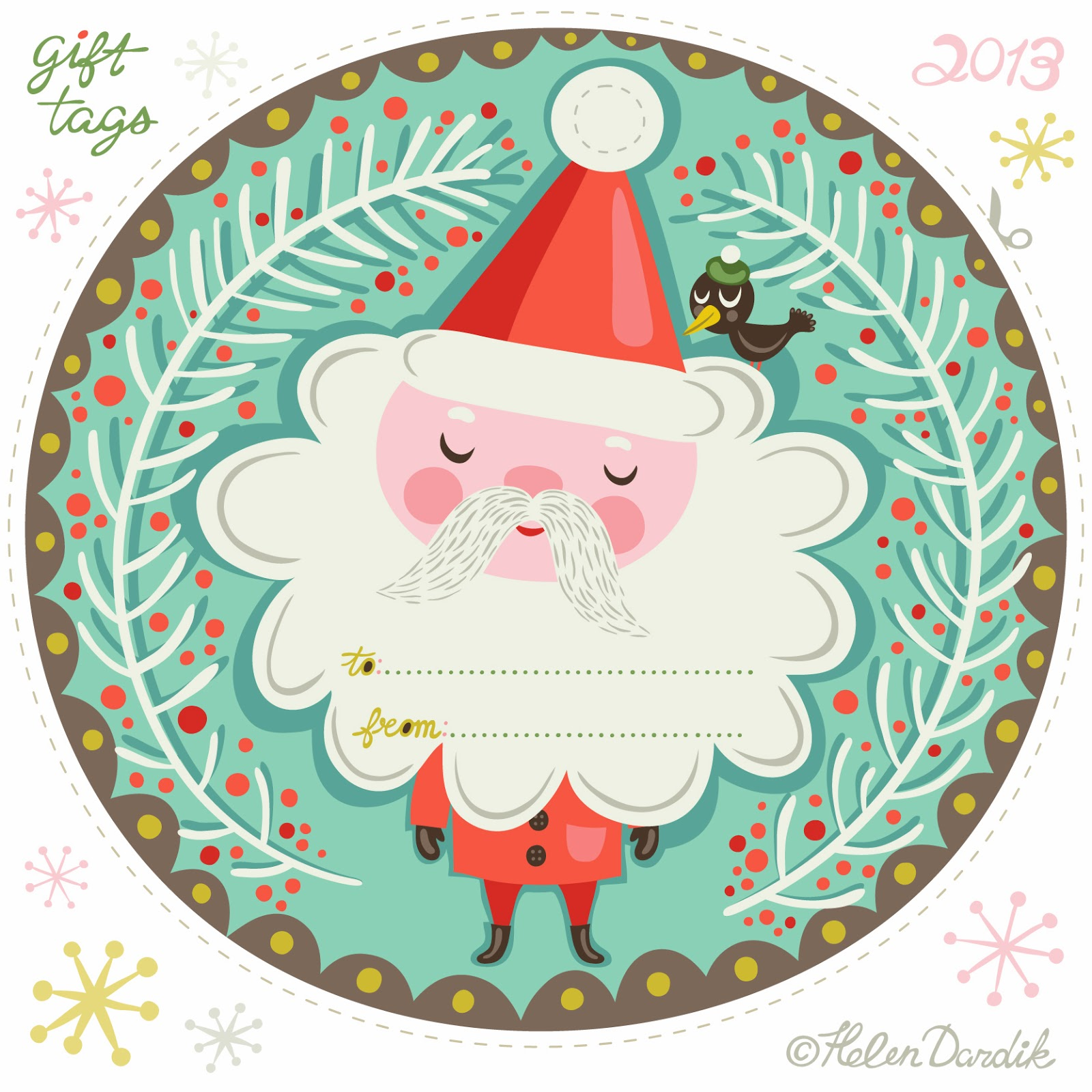 orange you lucky!: holiday gift tags . . .