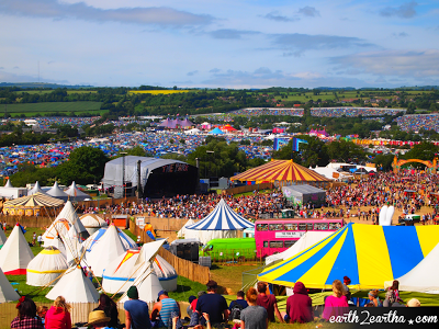 Beautiful View of Glastonbury 2013