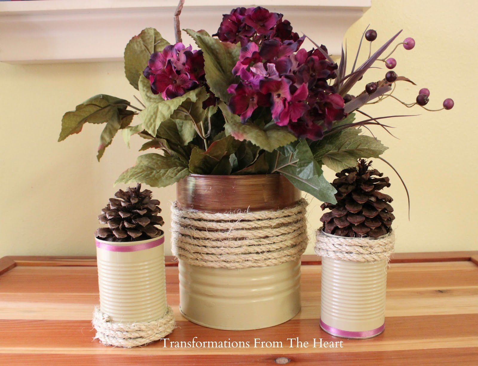 Tin cans for crafts - Diy Painted Tin Can Beauties