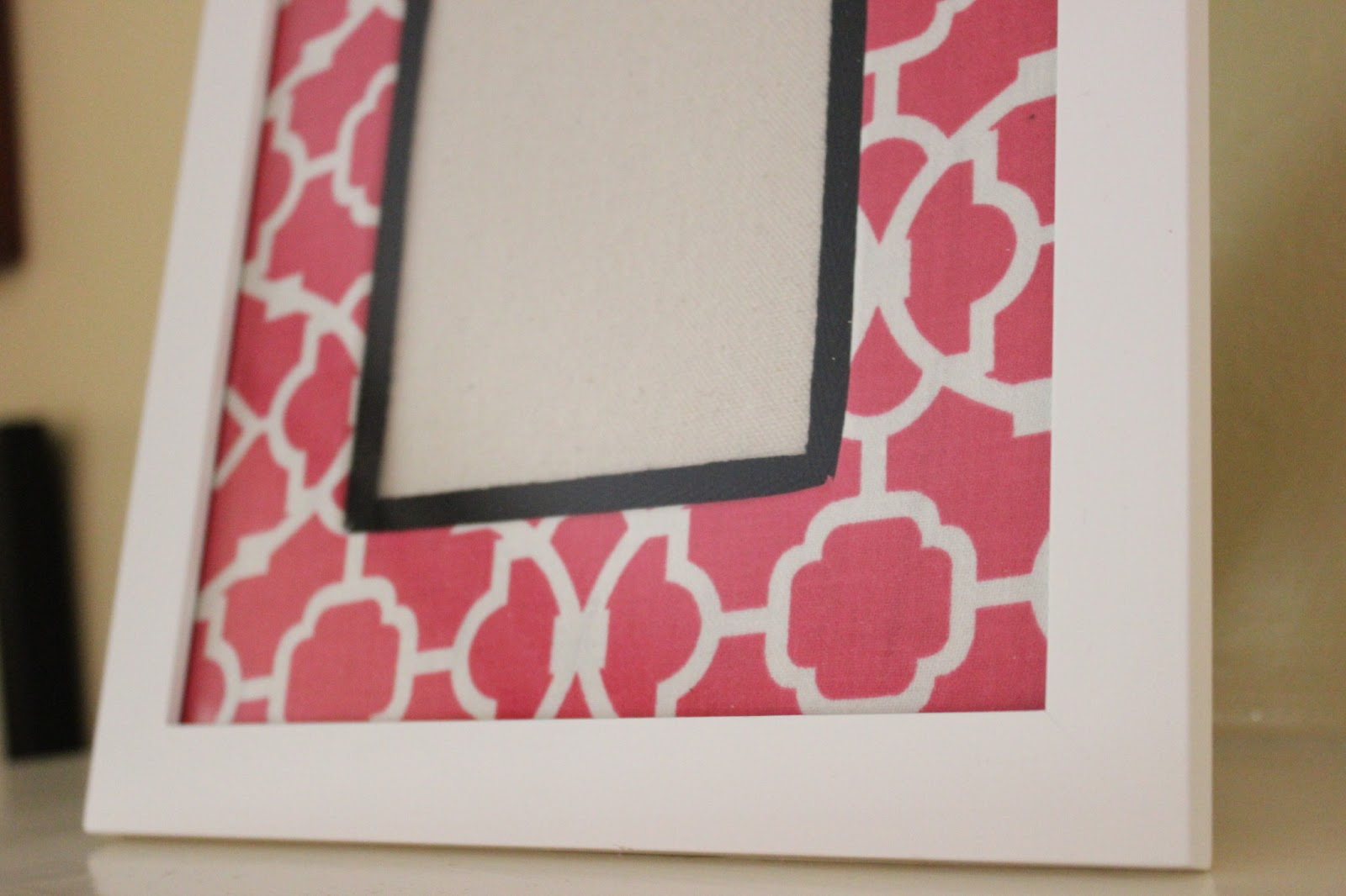 Cathie filian diy how to cover a photo mat with fabric for Diy fabric picture frame
