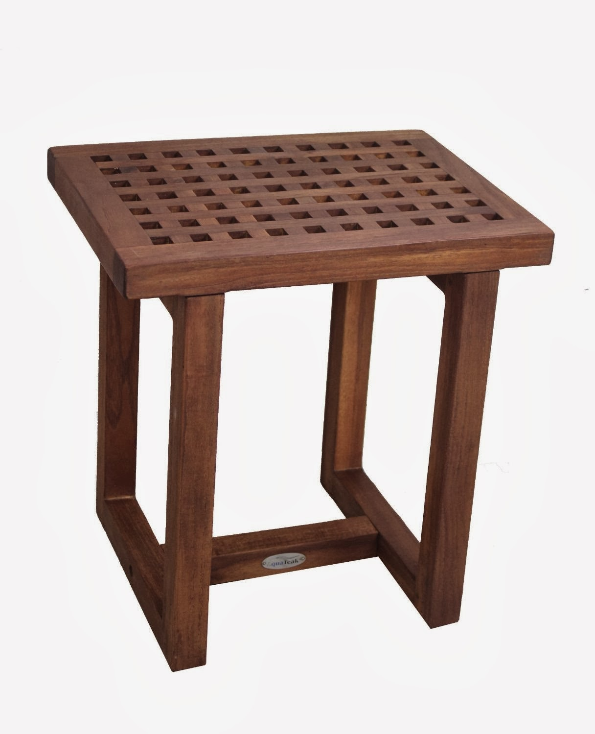 Amazing photo of Solid Teak Grate Shower Stool Teak Bath Bench with #43261C color and 1216x1500 pixels