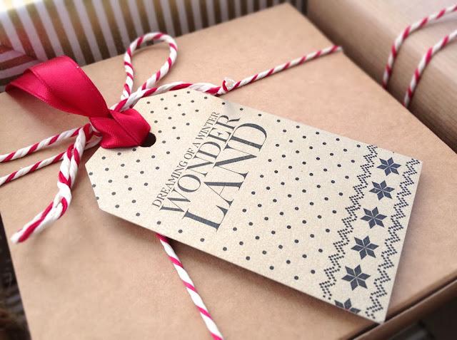 stripy giftwrap