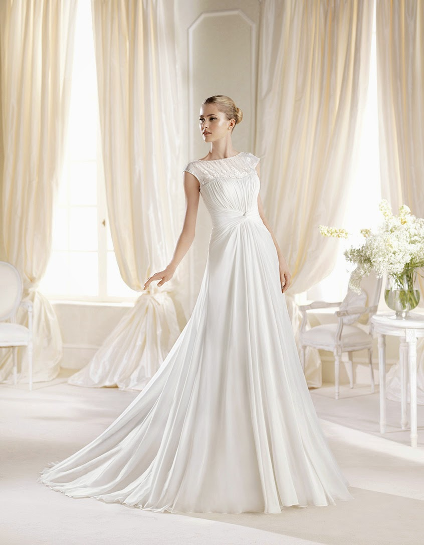 a-line wedding dress la sposa 2014