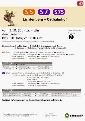 S-Bahn: Ersatzverkehr Lichtenberg — Ostbahnhof